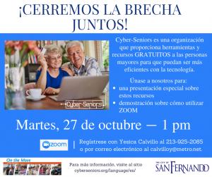 Cyber Seniors- Metro Pres October 27