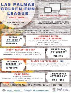 Las Palmas Golden Fun League October Activities ENG