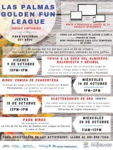 Las Palmas Golden Fun League October Activities SP