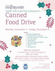 TBC Canned Food Drive