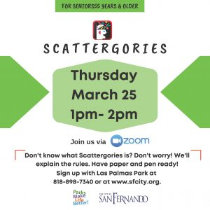 LPGFL March Scattergories