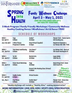 Family Wellness Challenge (April 2021 Schedule)