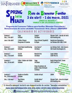 Family Wellness Challenge (April 2021 Schedule) SP