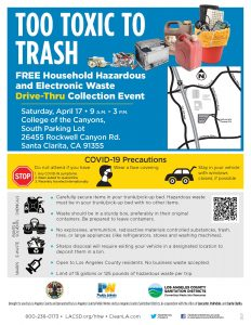 FREE HOUSEHOLD HAZARDOUS AND ELECTRONIC WASTE DRIVE-THRU COLLECTION EVENT