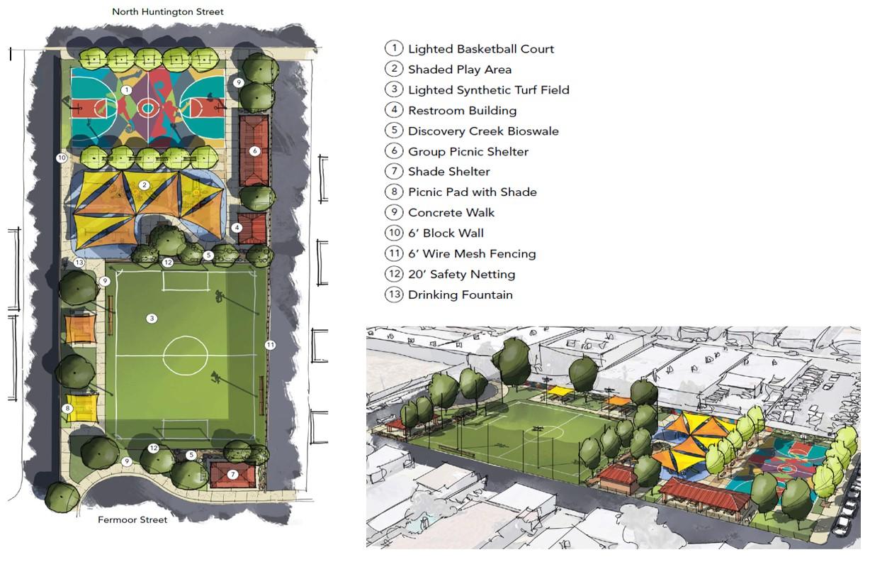 Rendering of Layne Park