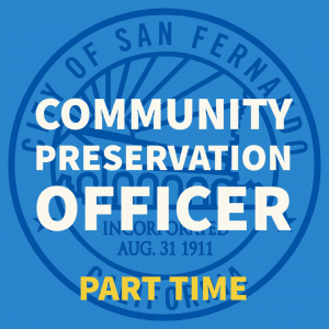 COMMUNITY PRESERVATION OFFICER