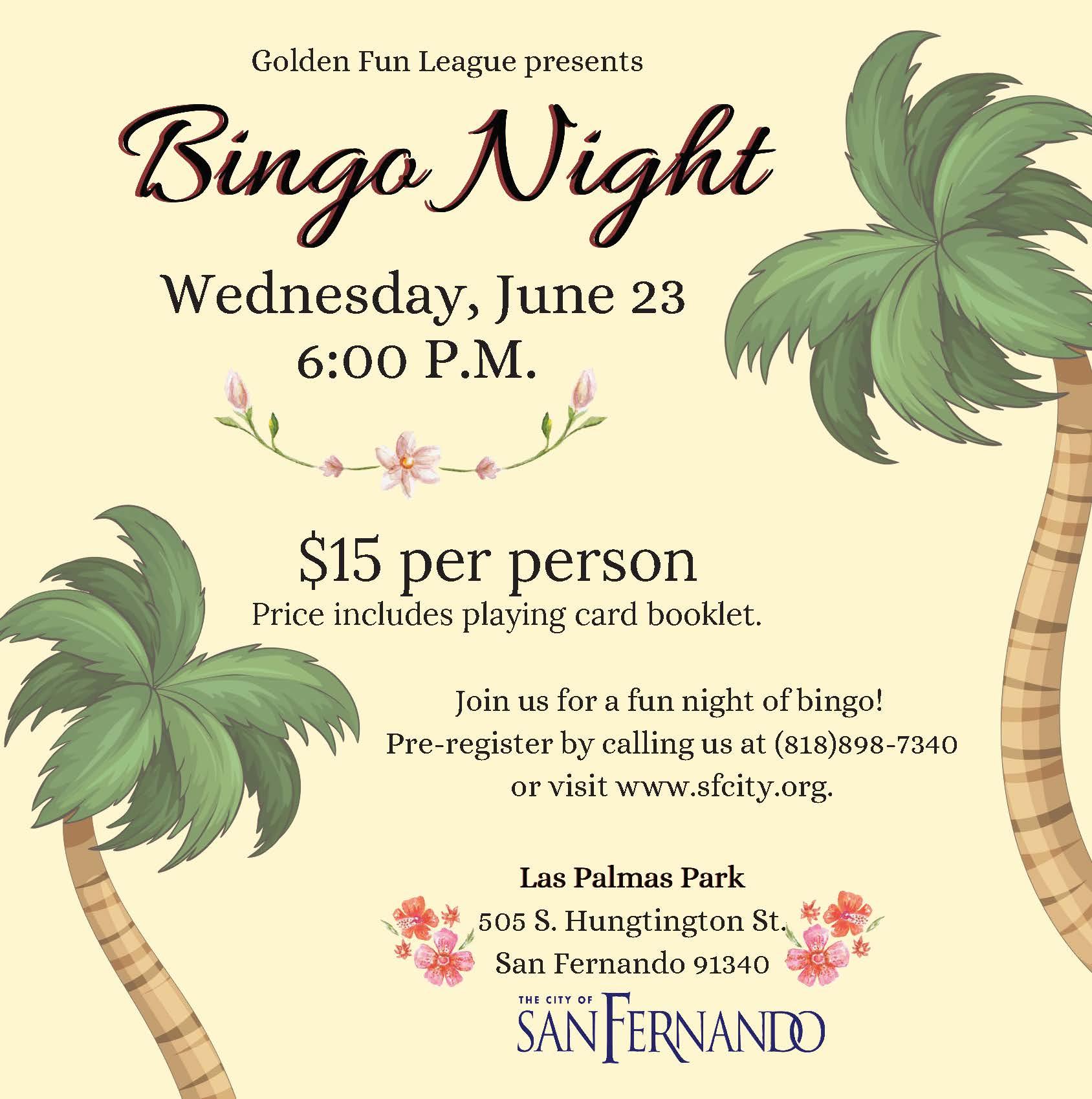 June Bingo Night