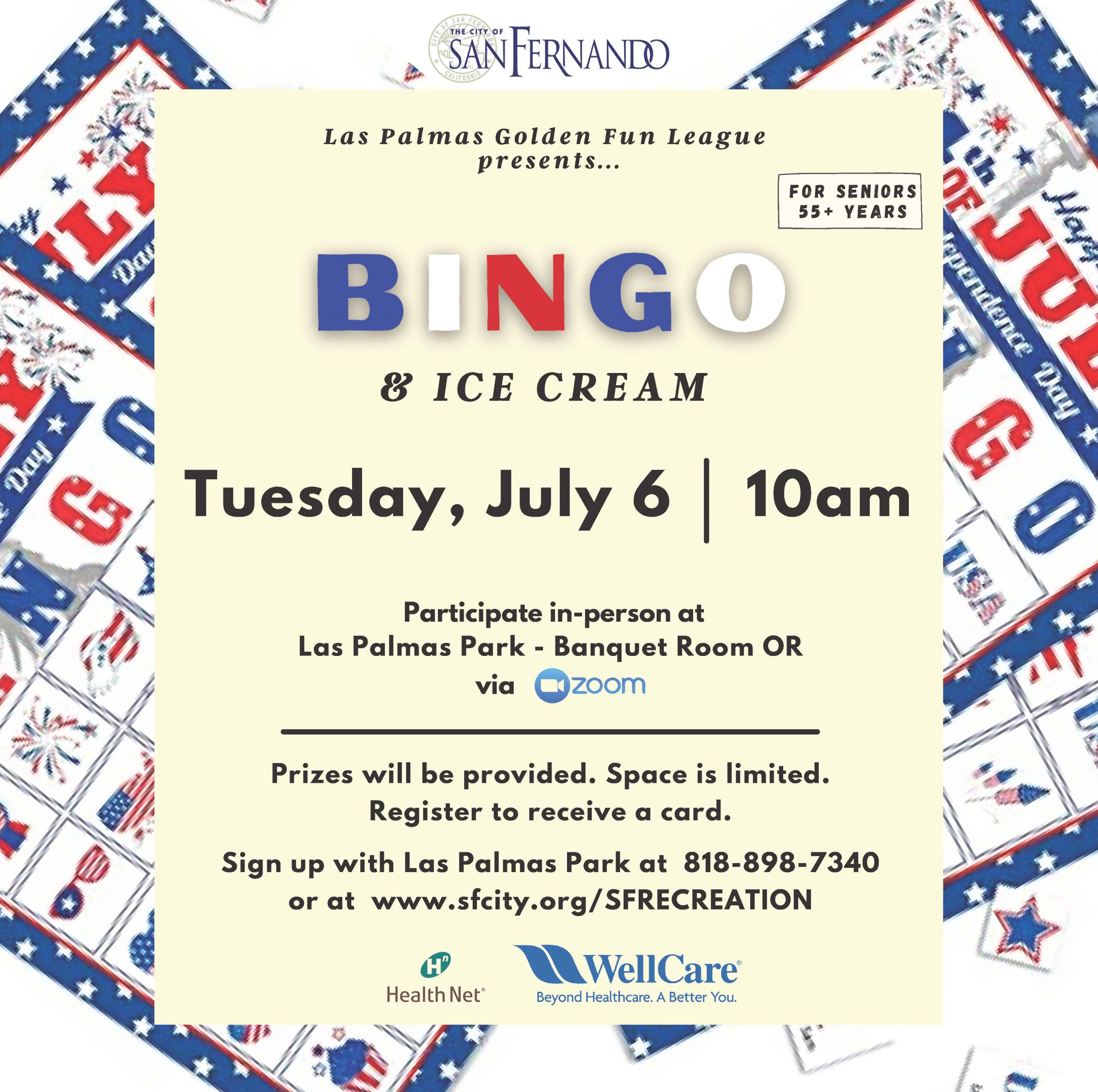 Bingo and ice cream with Healthnet
