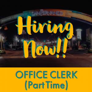 POST PIC Hiring Now (Office Clerk) PT