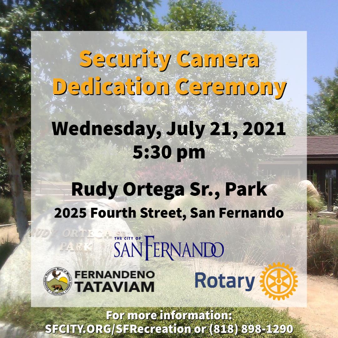 Security Camera Dedication Ceremony