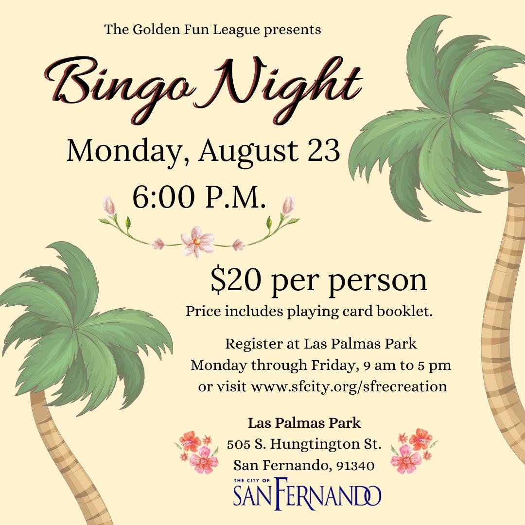 Bingo Night (8-23-21)