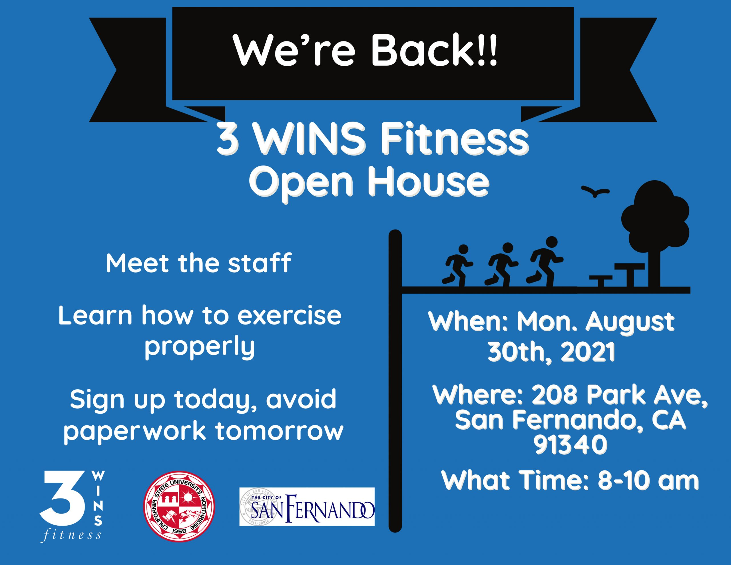 3 WINS FITNESS OPEN HOUSE
