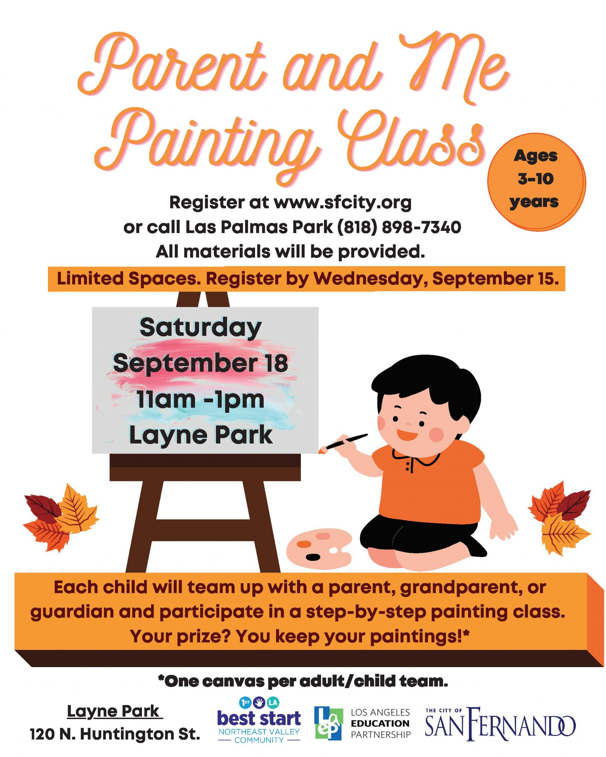 Parent and Me Painting Sept