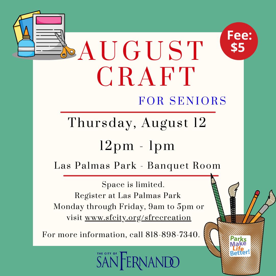 Senior Craft (8-12-21)