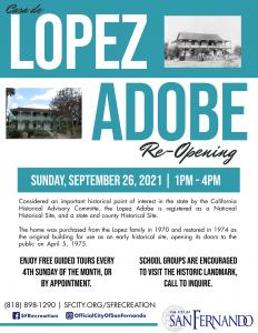 Lopez Adobe Reopening