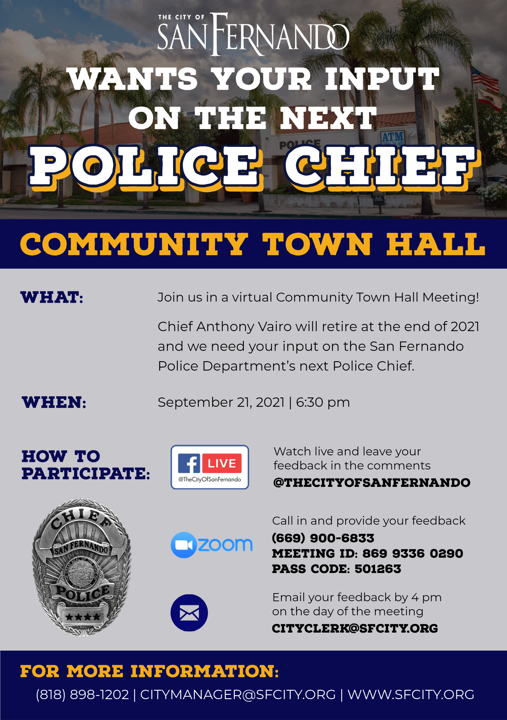 Community Town Hall re COP Recruitment