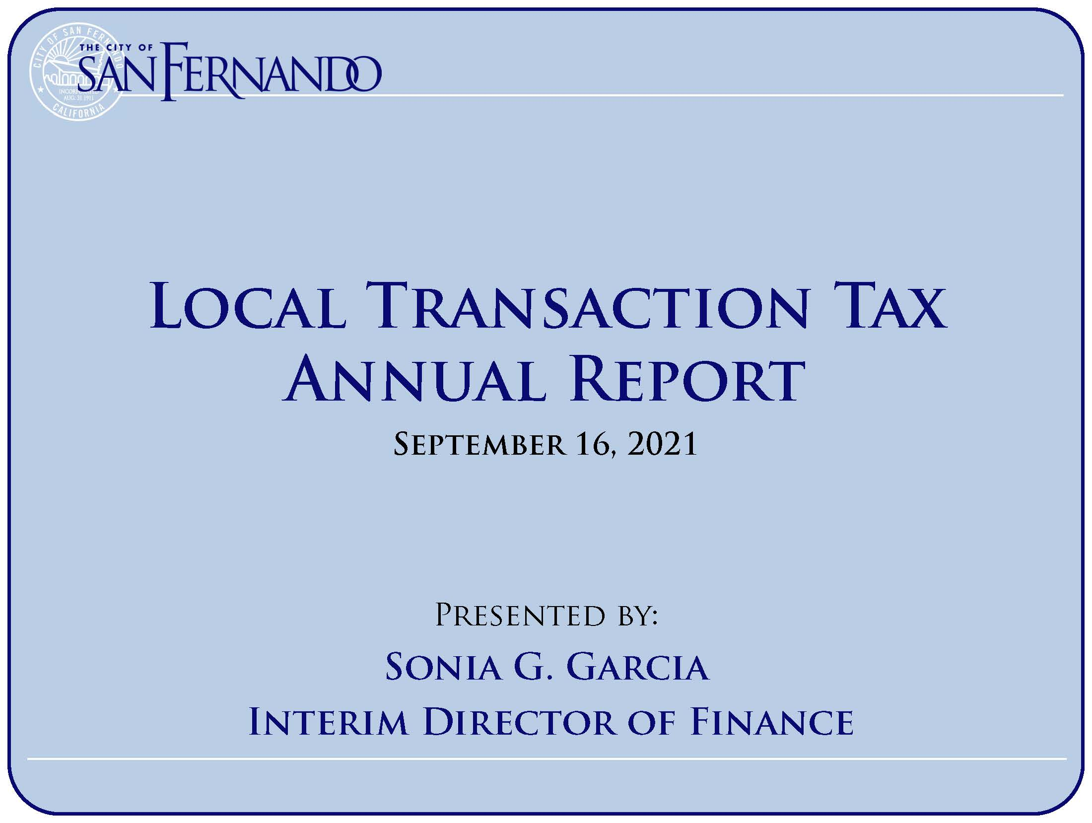 """Local Transaction Tax (Measures """"A"""" and """"SF"""") Presentation (9-16-21)"""