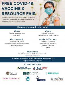 Vaccine Pop Up & Resource Fair (9-25-21) ENG