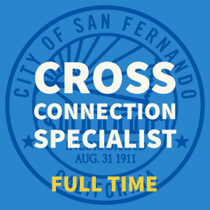 Cross Connection Specialist
