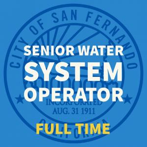 SENIOR WATER SYSTEM OPERATOR